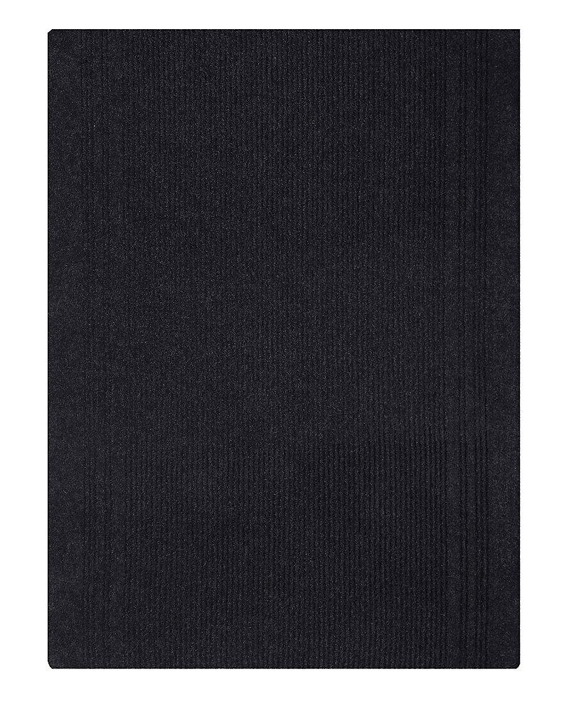 Tapis d'interieur/extérieur rectangulaire, 26 po x 18 pi, Persian, noir