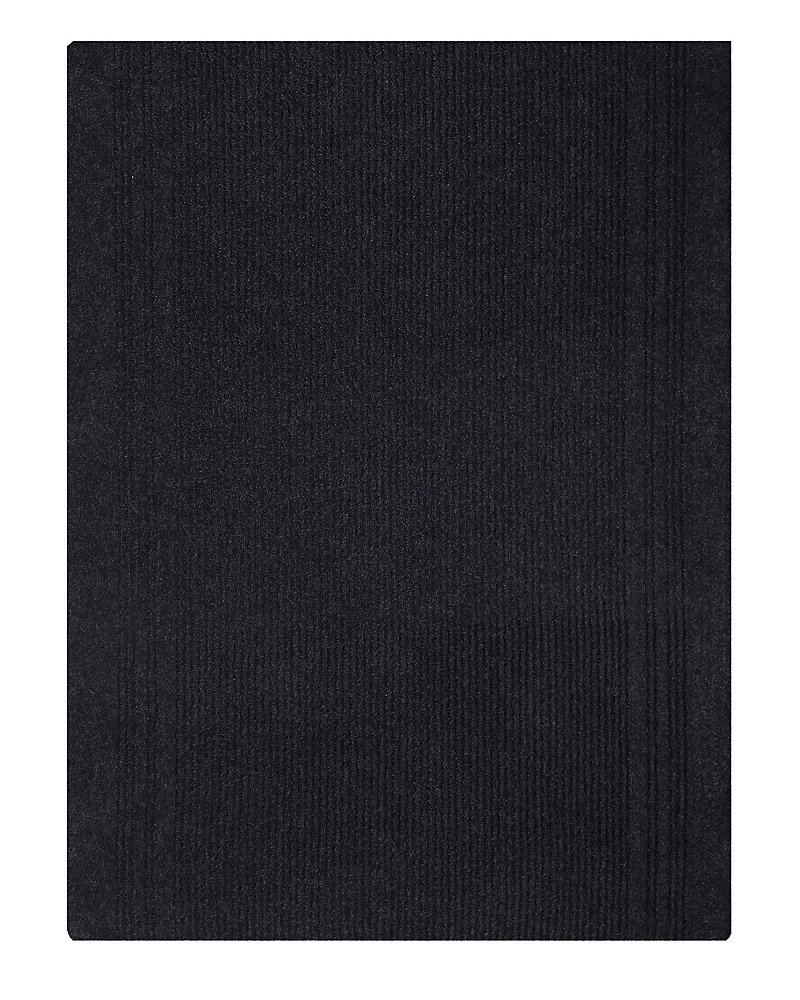 Tapis d'interieur/extérieur rectangulaire, 26 po x 68 pi, Persian, noir