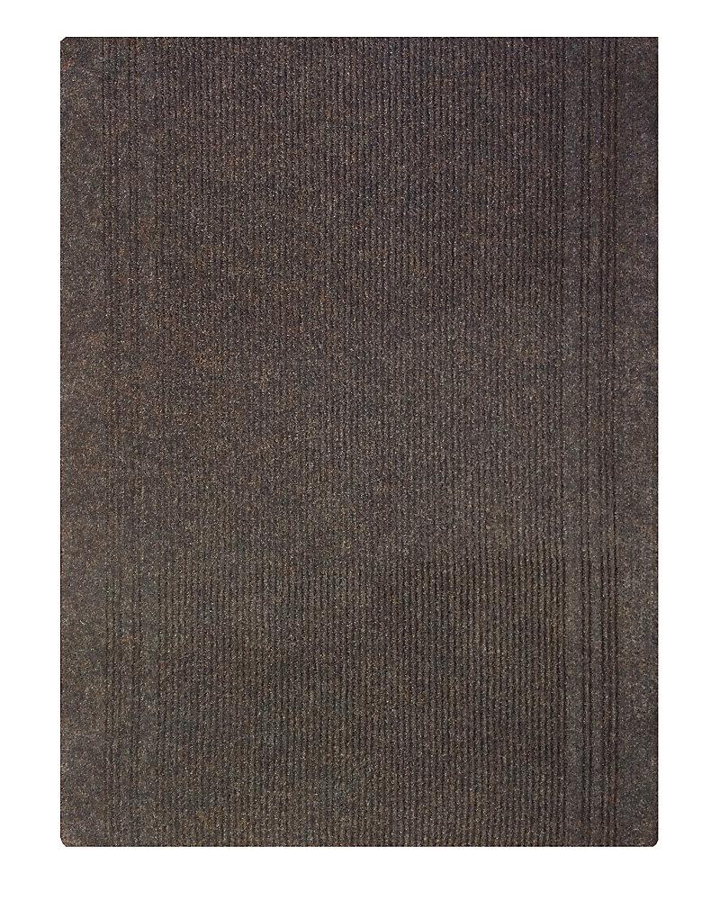 Tapis d'interieur/extérieur rectangulaire, 26 po x 52 pi, Persian, brun