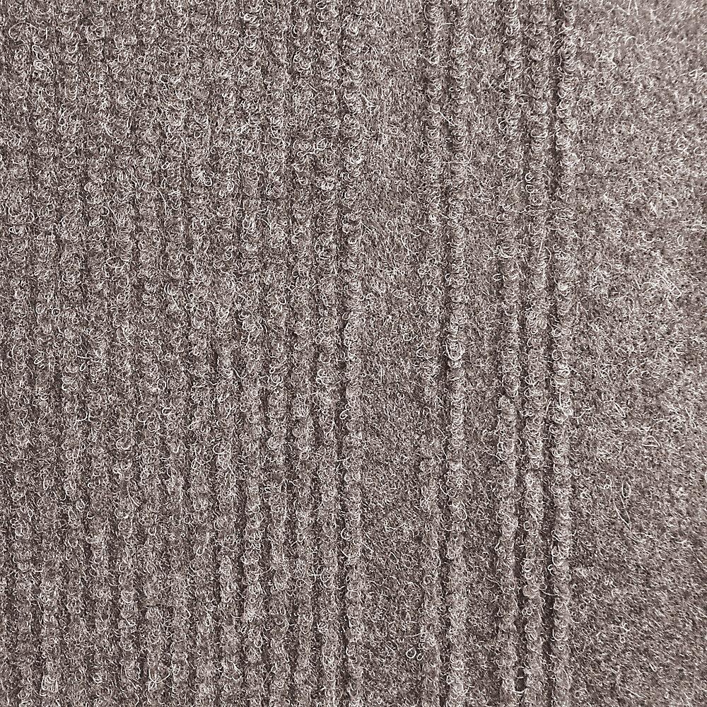 Tapis d'interieur/extérieur rectangulaire, 26 po x 12 pi, Persian, taupe