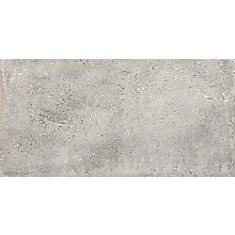 Euro Lone Cemento Grigio 12-inch x 24-inch Porcelain Floor and Wall Tile (14.42 sq. ft. / case)