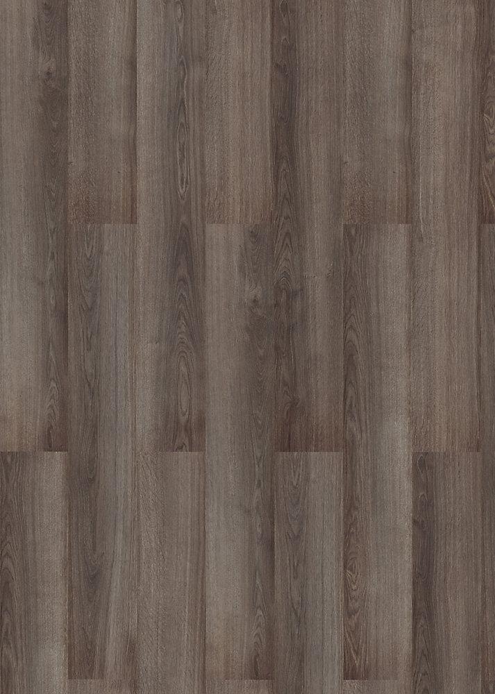 Revêt. de sol, 10 mm x 6,29 po x 50-5/8 po, 17,72 pi2/bte, plancher stratifié de grade AC3, chêne, gris Tundra