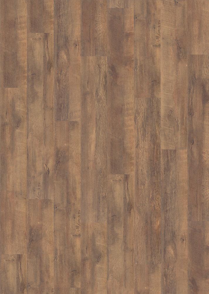 Revêt. de sol, 12 mm x 6,29 po x 50-5/8 po, 17,72 pi2/bte, plancher stratifié de grade AC3, chêne, Yukon Chataigne