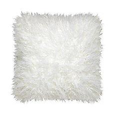 Mongolian White Fur Cushion