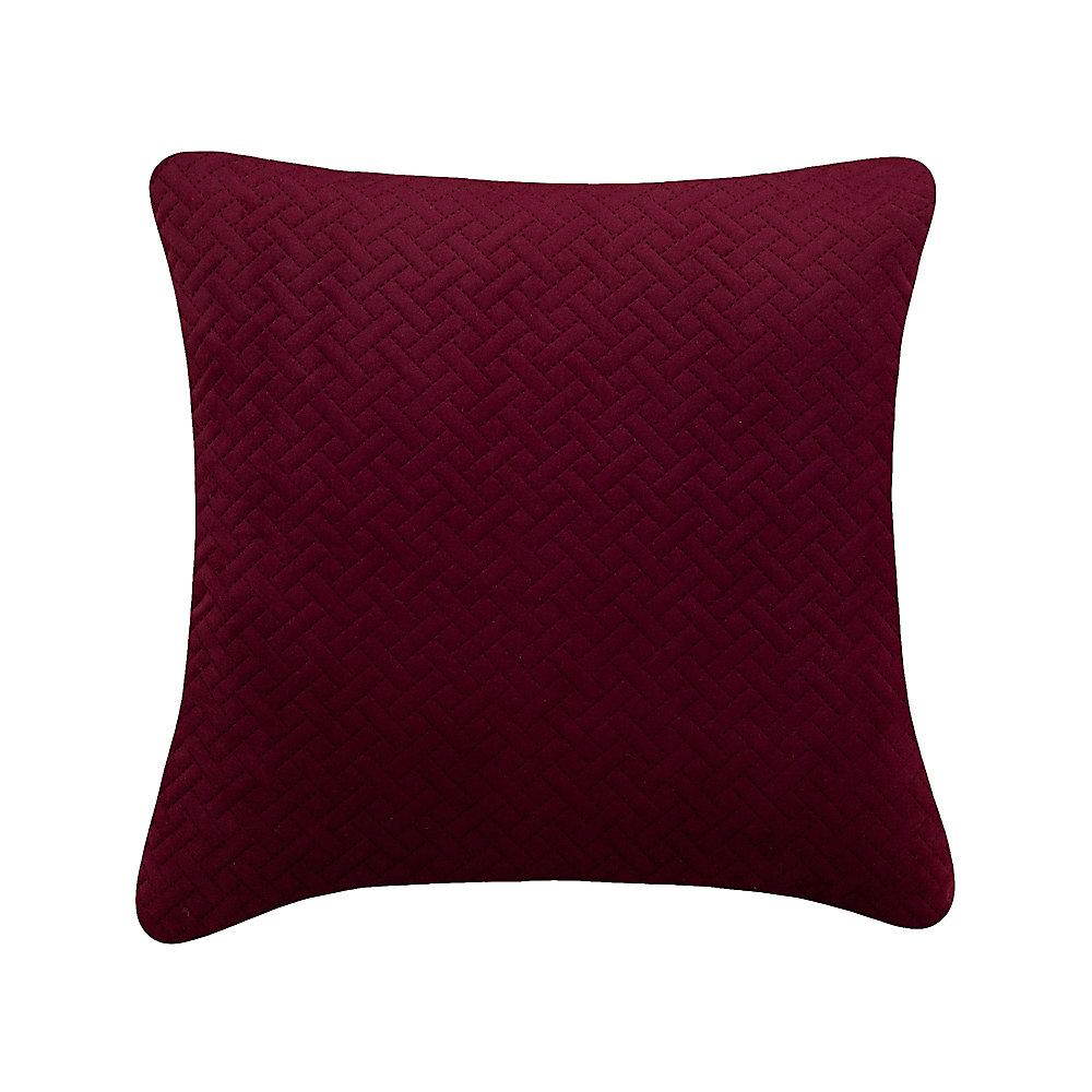 Quiltee Burgundy Cushion