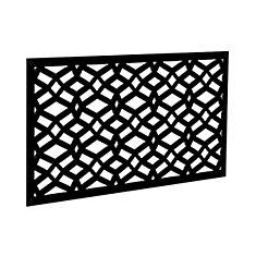 Decorative screen panel 2x4 - celtic - black