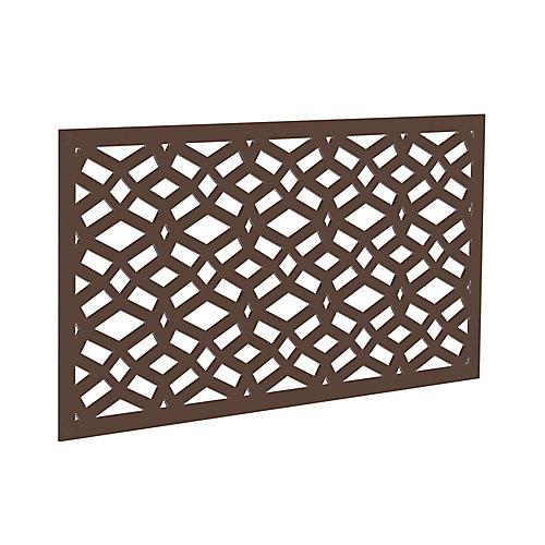Decorative screen panel 2x4 - celtic - brazilian walnut