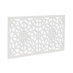 Decorative screen panel 2x4 - fretwork - white