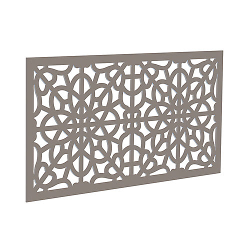 Decorative screen panel 2x4 - fretwork - greige