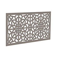 Decorative screen panel 2x4 - fretwork - greige