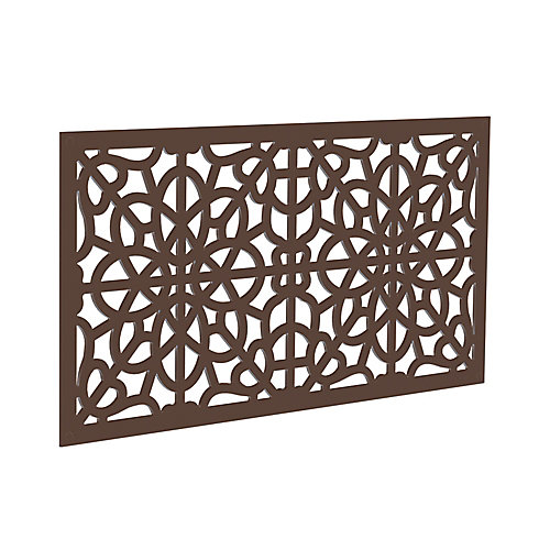 Decorative screen panel 2x4 - fretwork - brazilian walnut