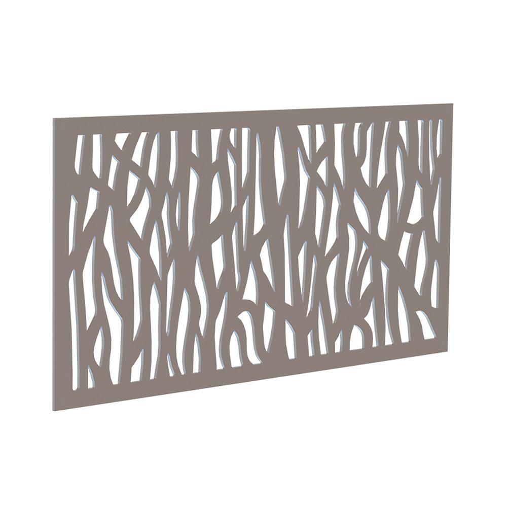 Panneau decoratif 2x4 - sprig - greige