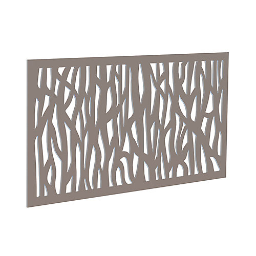 Decorative screen panel 2x4 - sprig - greige