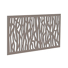 Decorative screen panel 2x4 - sprig - greige