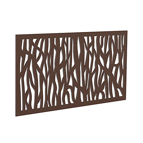 Decorative screen panel 2x4 - sprig - brazilian walnut
