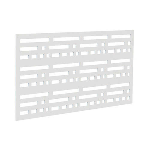 Decorative screen panel 2x4 - morse - white