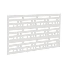 Decorative screen panel 2x4 - morse - white