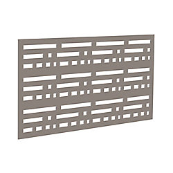 Decorative screen panel 2x4 - morse - greige