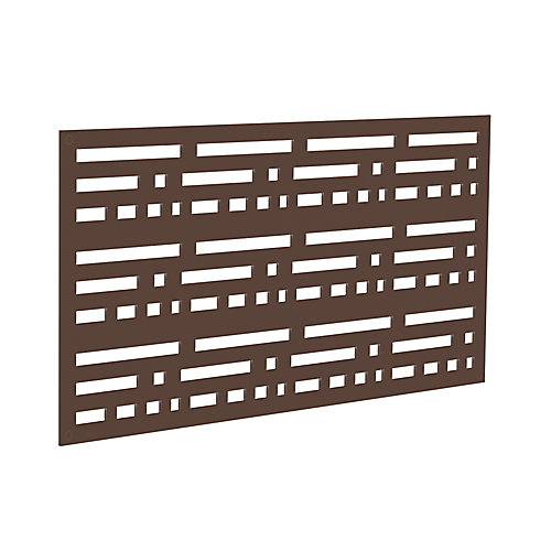 Decorative screen panel 2x4 - morse - brazilian walnut