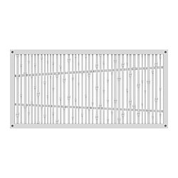 Decorative screen panel 2x4 - bungalow - white