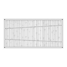 Decorative screen panel 2x4 - bungalow - white