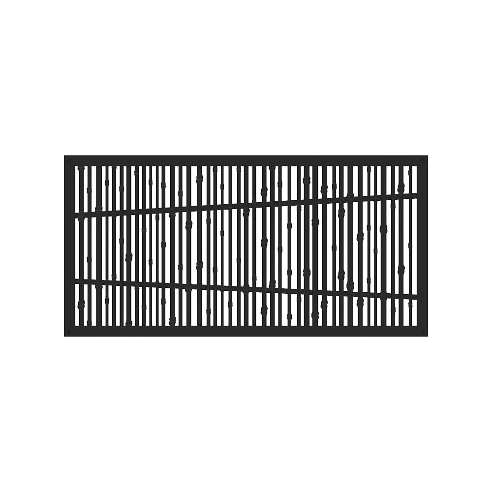 Panneau decoratif 2x4 - bungalow - noir