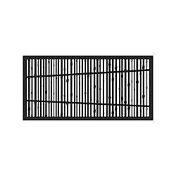 Decorative screen panel 2x4 - bungalow - black