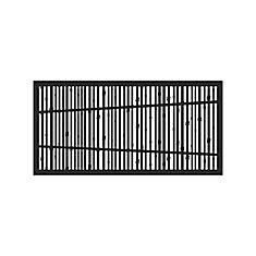 Decorative screen panel 2x4 - bungalow - black