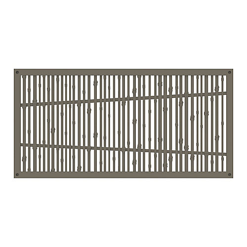 Decorative screen panel 2x4 - bungalow - greige