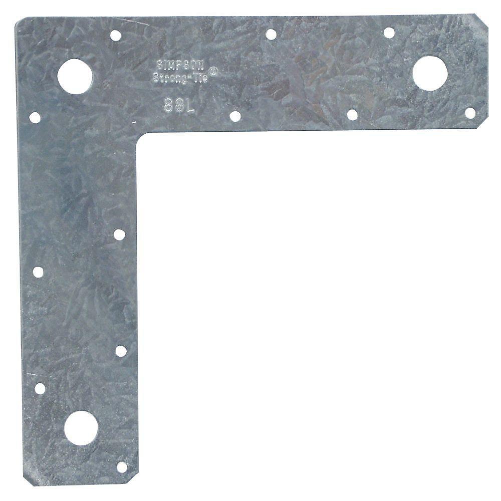 8 inch x 8 inch 14-Gauge Galvanized L Strap