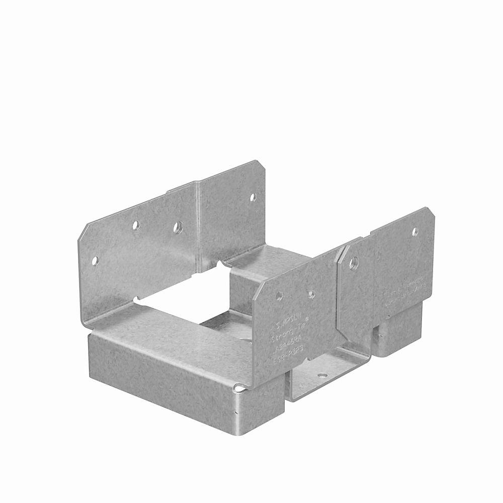 ABA ZMAX Galvanized Adjustable Post Base for 4x6 Rough