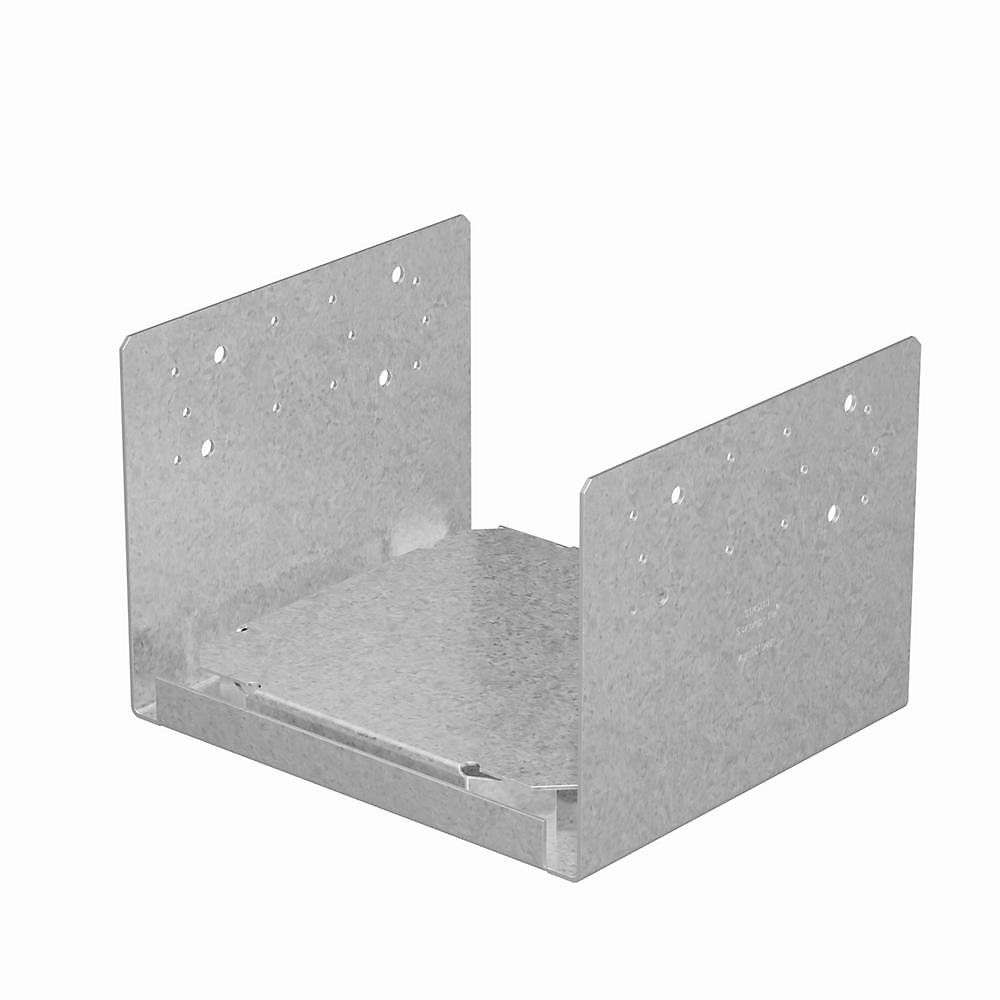 Base de poteau ABU réglable galvanisée ZMAX pour 10x10 brut