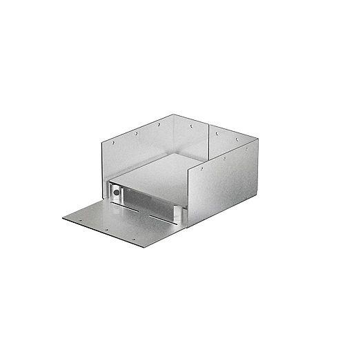 Simpson Strong-Tie Base de poteau ABW galvanisée ZMAX avec dégagement réglable pour 6x6