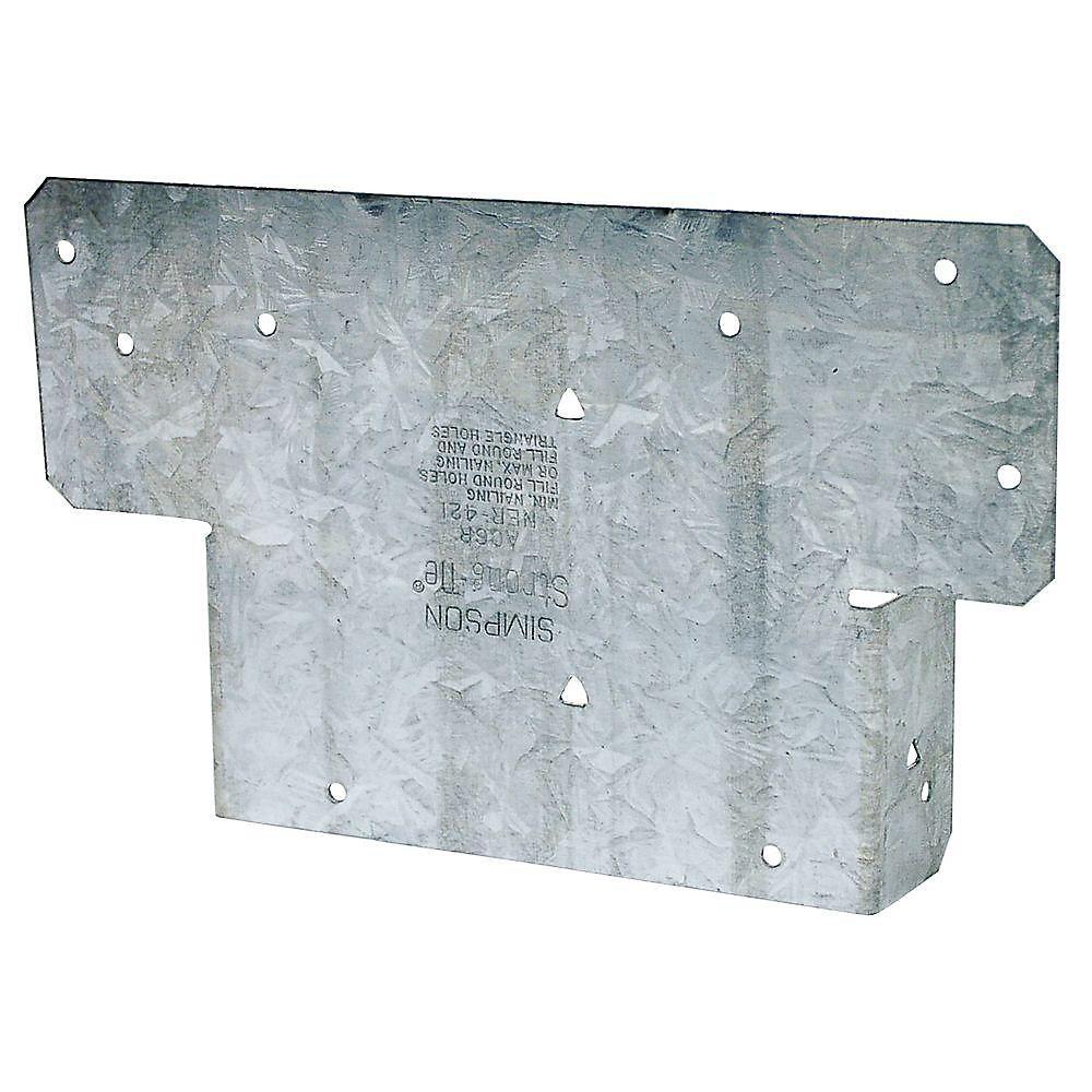 Capuchon de poteau AC réglable à galvanisation ZMAX pour 6x brut