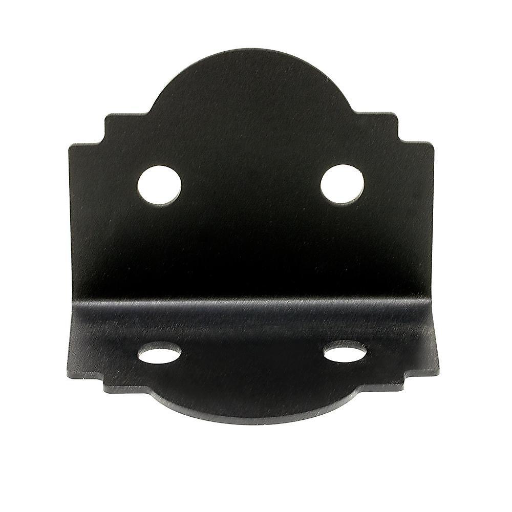 Angle 90° enduit de poudre noire galvanisé ZMAX Outdoor Accents pour 6x