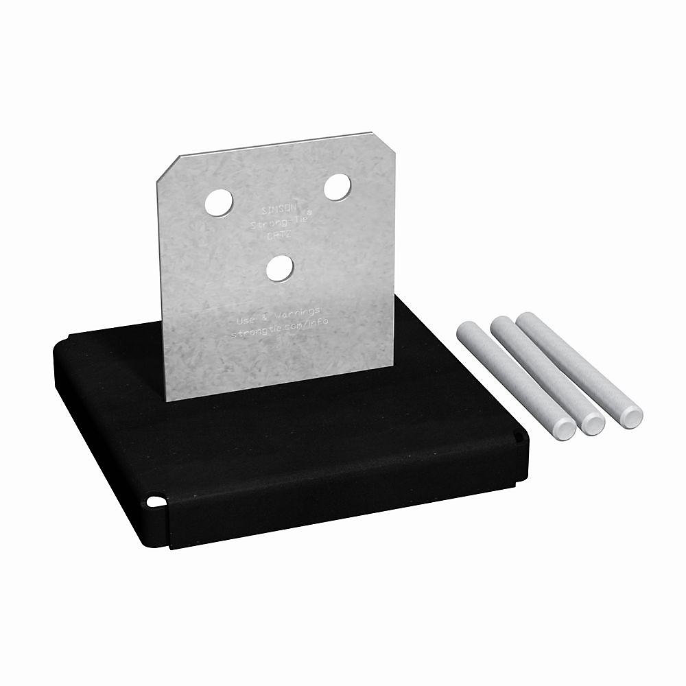 CPTZ ZMAX Galvanized Concealed Post Base for 8x8