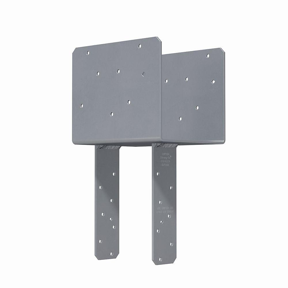 Chapiteau d'extrémité de colonne ECCQ pour poutre 7 po, poteau 6x avec vis Strong-Drive SDS