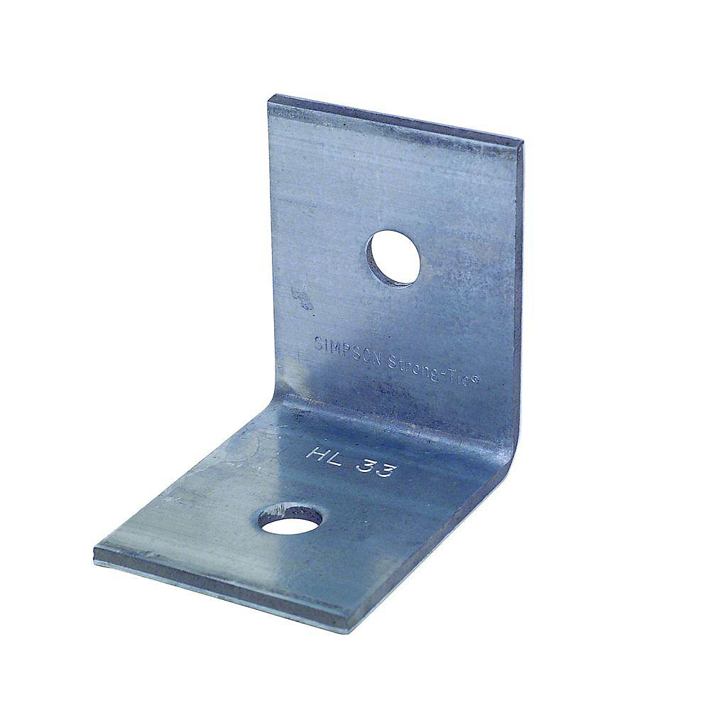 Angle lourd HL galvanisé de 3 1/4 po x 2 1/2 po