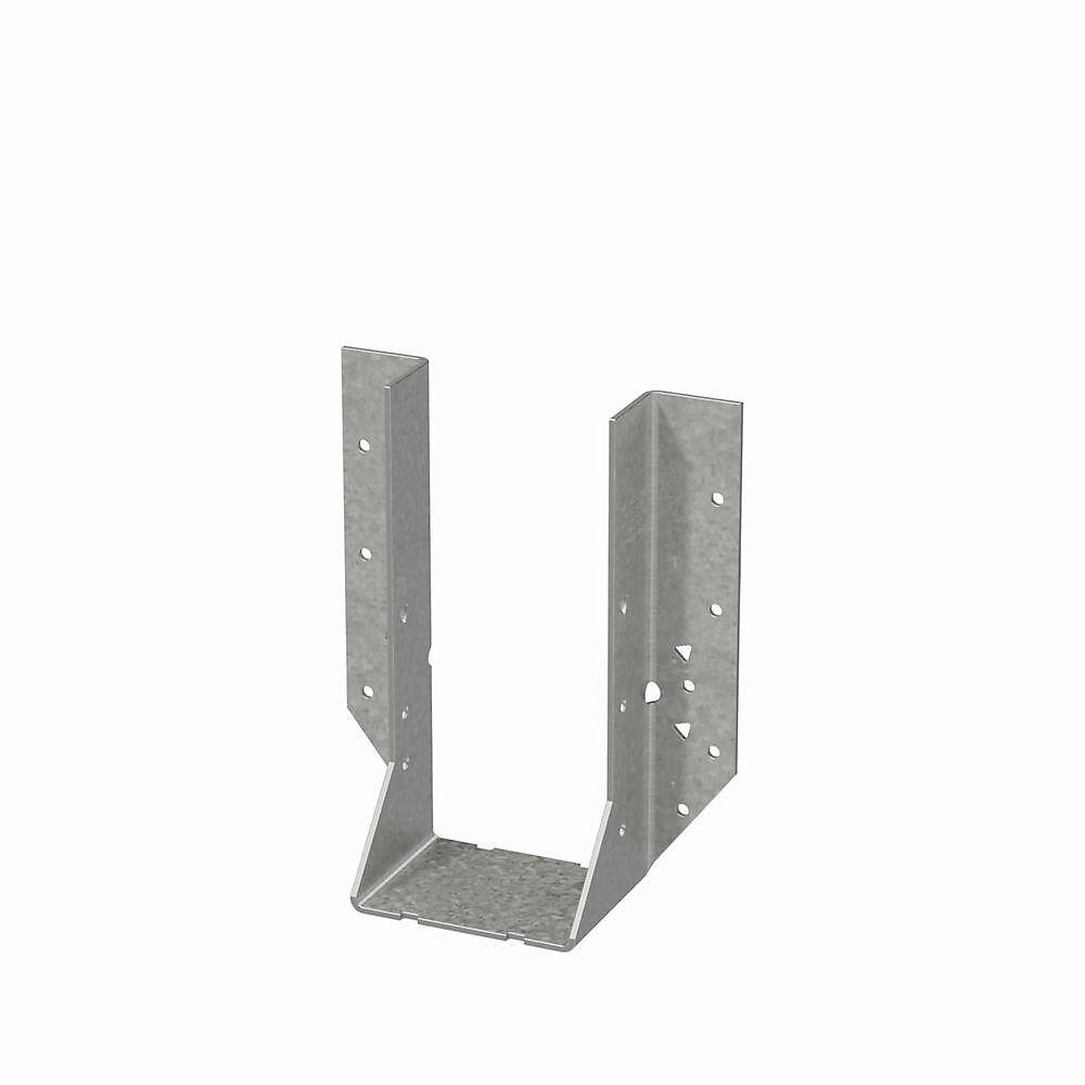 Étrier à solive à montage frontal galvanisé HU pour 2x8 double