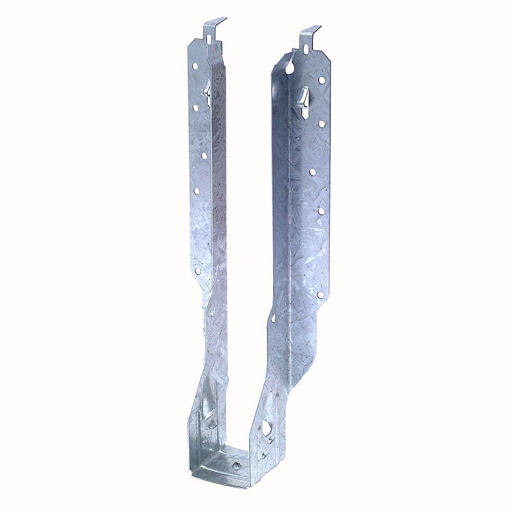 Étrier à solive à montage frontal galvanisé IUS pour bois d'ingénierie de 2 1/2 po x 14 po