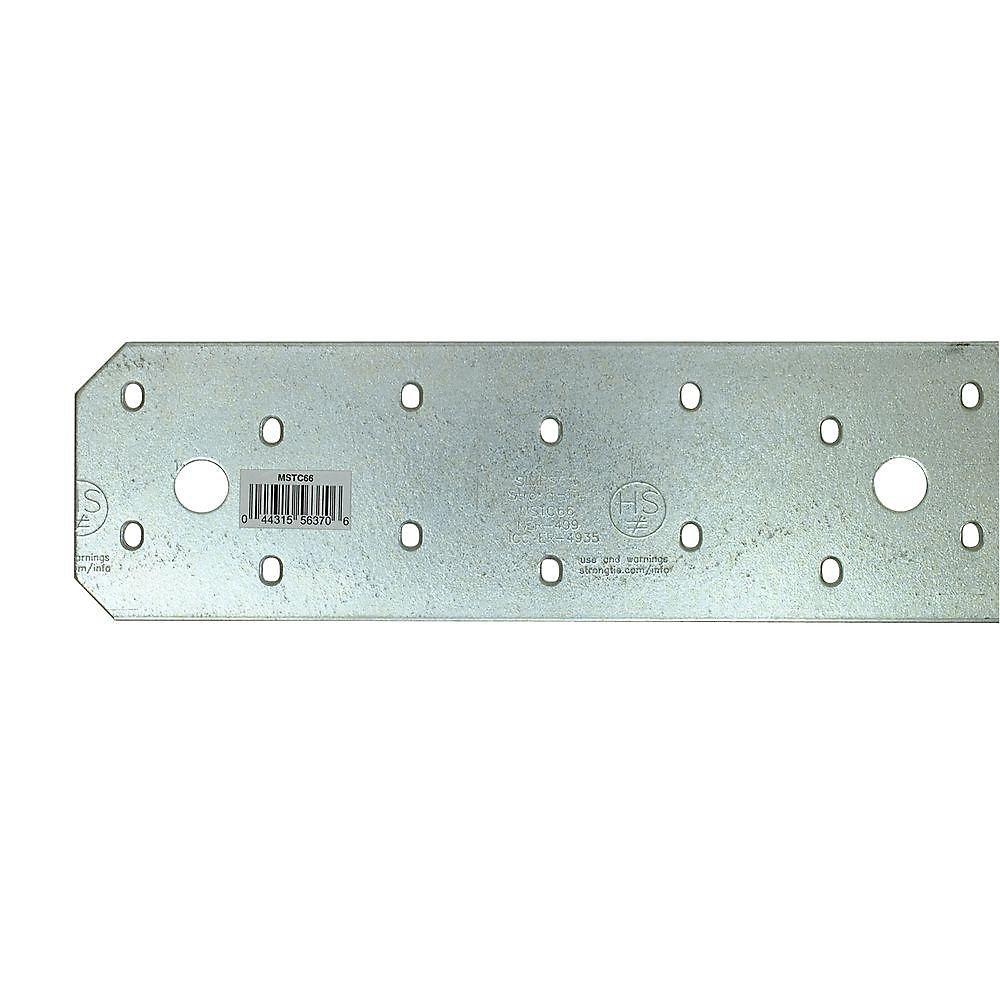 Ferrure de connexion moyenne galvanisée de calibre 14 MSTC 65 3/4 po
