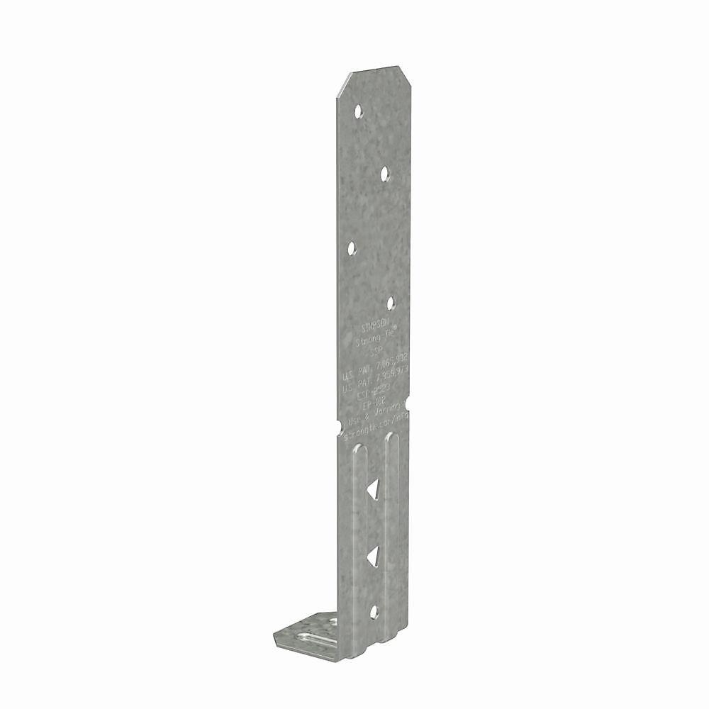 Plaque de fixation pour montant simple galvanisée de calibre 18 SSP