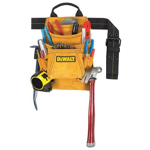 DEWALT 10-Pocket Carpenter's Suede Nail and Tool Bag
