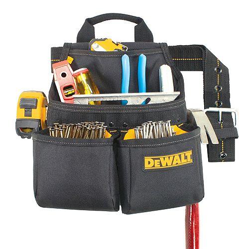 DEWALT 6-Pocket Framer's Nail and Tool Bag