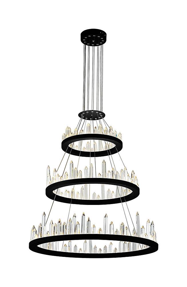 32 inch Juliette LED Lumière Lustre avec Fini Noir