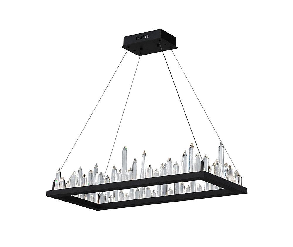 44 inch Juliette LED Lumière Lustre avec Fini Noir