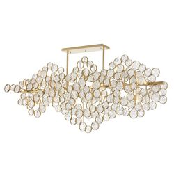 CWI Lighting 58 inch 15 Light Chandelier with Gold Leaf Finish From our Anastasia Collection