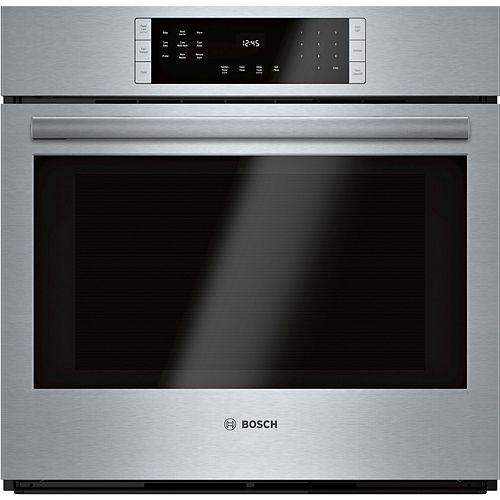 Bosch 800 Series, 30 inch, Single Wall Oven, SS,  EU Convection, Touch Control, Home Connect
