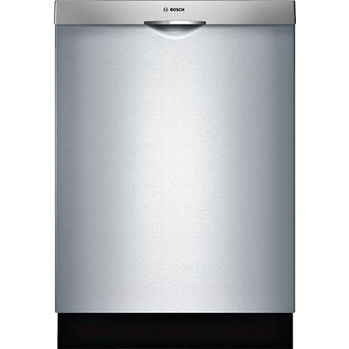 Lave-vaisselle de série100 avec poignée «scoop» et 3epanier, 5/5cycles, 48dBA, acier inoxydable