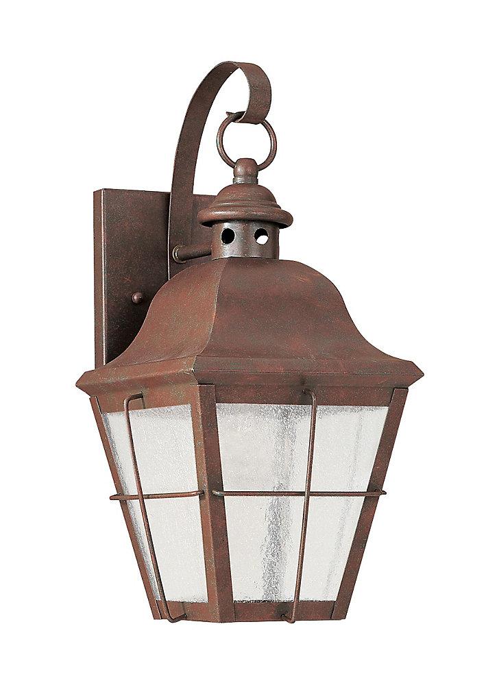 Lumière Chatham fixée au mur à une ampoule avec abat-jour clair, finition de spécialité